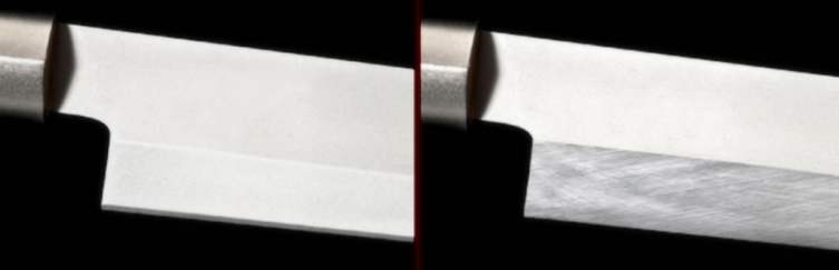 Before & After - Fixing Knife with Incorrect Bevel
