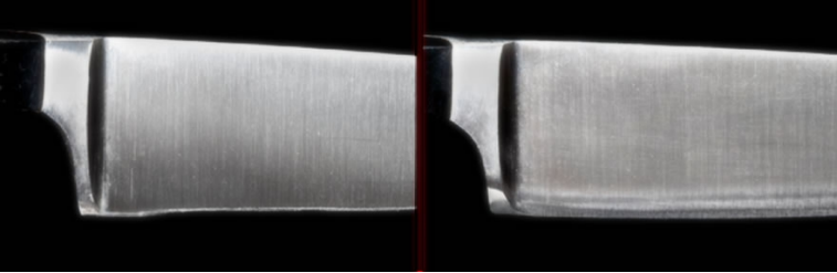Before & After - Poor Sharepening of the Knife